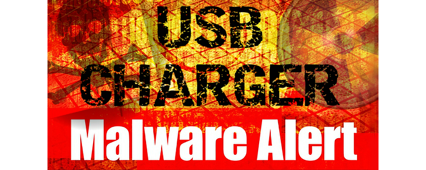 USB charger for electronic cigarette infected with malware
