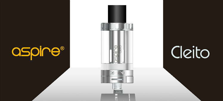 ATOMIZER - ASPIRE Cleito 70W 0.2Ω No-Chimney Clearomizer ( Black )