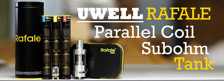ATOMIZER - UWELL Rafale TC Capable Sub Ohm Tank ( Stainless )