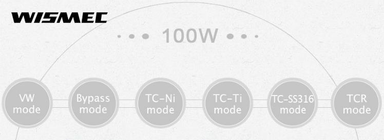 KIT - Wismec PRESA 100W TC Box Mod ( Black )