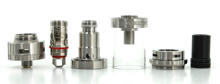 ATOMIZER - VAPORESSO Gemini cCell Ceramic Coil Atomizer ( Silver )