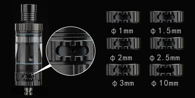 ATOMIZER - VISION / VAPROS KinTa Ceramic Coil Atomizer with RBA Kit ( Stainless )