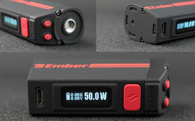 KIT - DOVPO Ember 50W TC Mod ( Black )