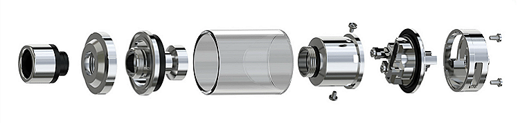 ATOMIZER - Eleaf Lemo 3 Rebuildable & Changeable Head Atomizer ( Stainless )