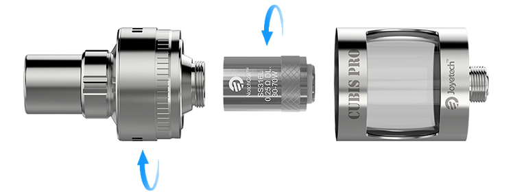 ATOMIZER - JOYETECH CUBIS PRO Cupped TC Clearomizer ( Stainless )