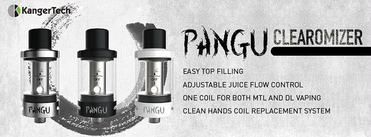ATOMIZER - KANGER PANGU Clean Hands Tank Atomizer ( Black )