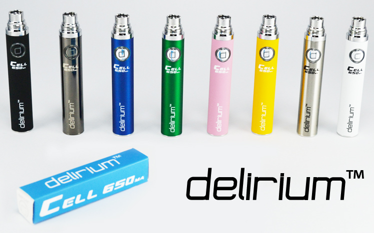 BATTERY - DELIRIUM CELL 650mA eGo/eVod Top Quality ( White )