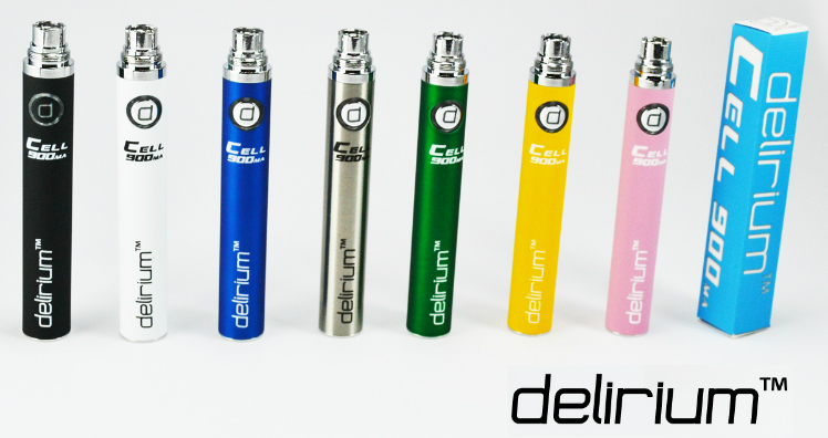 BATTERY - DELIRIUM CELL 900mA eGo/eVod Top Quality ( Black )