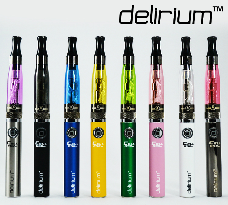 KIT - delirium Rainbow Starter Kit 650mAh eGo/eVod Battery - CE5 Atomizer ( Yellow )