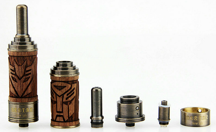 ATOMIZER - VISION X.Fir Desire BDC Atomizer with Wooden Sleeve - Adjustable Airflow / 1.8 ohms / 2ML Capacity - 100% Authentic