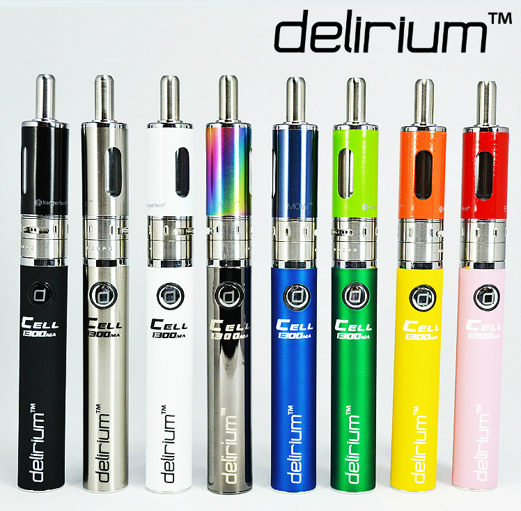 KIT - Kanger Aerotank Mow & delirium Cell 1300mAh Battery ( Variable Airflow eGo / eVod APV Kit - Blue )