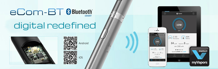 KIT - JOYETECH eCom BT ( Bluetooth Wireless ) 650mA Single Kit - 100% Authentic - Stainless