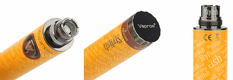 BATTERY - VISION / VAPROS Stylish V1 1300mA Variable Voltage Battery ( Black )