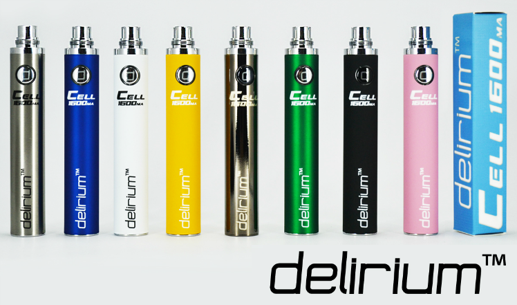 BATTERY - DELIRIUM CELL 1600mA eGo/eVod Top Quality ( Black )