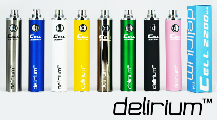 BATTERY - DELIRIUM CELL 2200mA eGo/eVod Top Quality ( Black )