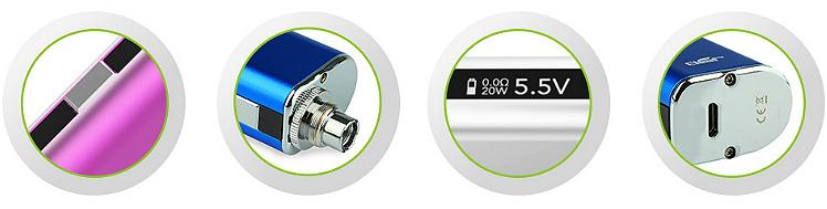 KIT - Eleaf iStick 20W - 2200mA VV/VW ( Stainless )