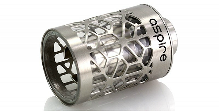 ATOMIZER - ASPIRE Atlantis Assy Hollow Core Caged Glass Tank ( Steel Cage )