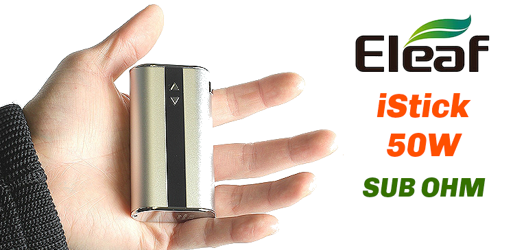 BATTERY - Eleaf iStick 50W - 4400mA VV/VW Sub Ohm ( Black )