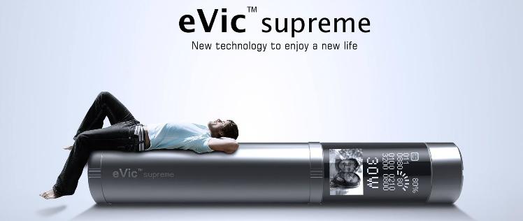 KIT - JOYETECH eVic Supreme 18650 2100mA ( 3-6V / 30W ) - Stainless