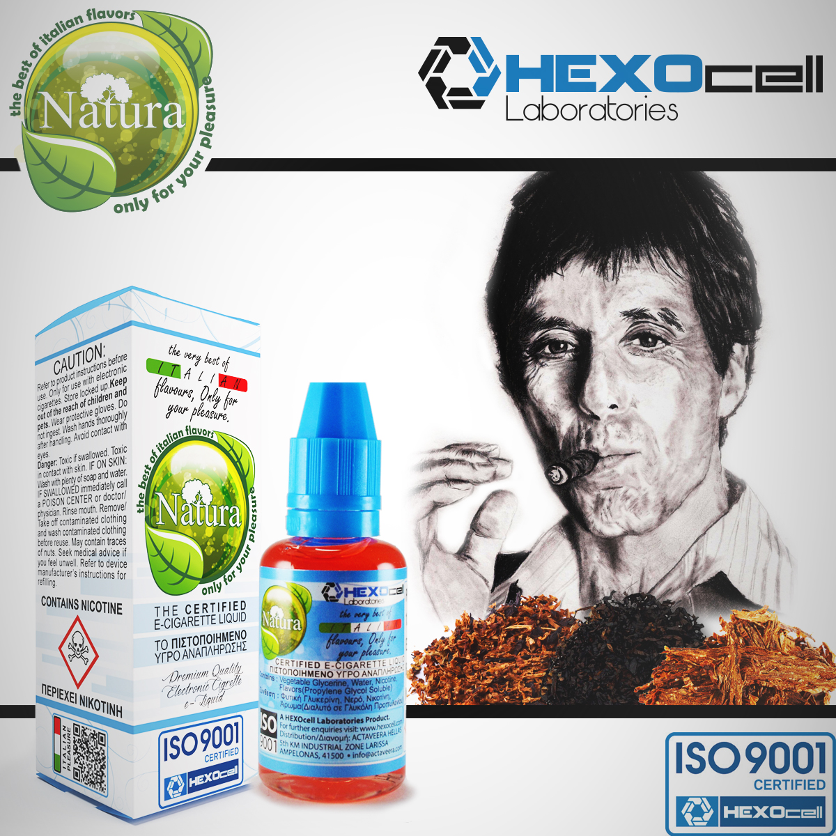 30ml TONY MONTANA 9mg eLiquid (With Nicotine, Medium) - Natura