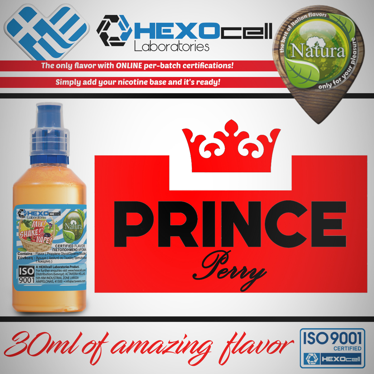 D I Y  - 30ml PRINCE PERRY 0mg 65% VG TPD Compliant Shake & Vape