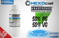 D.I.Y. - 1000ml HEXOcell eLiquid Base (50% PG, 50% VG, 16mg/ml Nicotine) image 1
