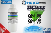D.I.Y. - 1000ml HEXOcell eLiquid Base (50% PG, 50% VG, 32mg/ml Nicotine) image 1