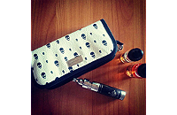 VAPING ACCESSORIES - Pandoras Enigma Handmade Leather Carry Case ( Skull ) image 1
