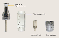 ATOMIZER - ASPIRE ET BDC Clearomizer ( Clear Black ) image 3