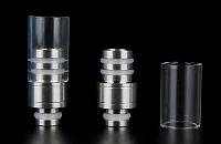 VAPING ACCESSORIES - 510 Detachable Top Pyrex & Metal Drip Tip image 1