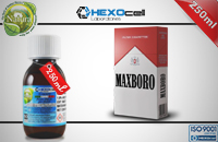 250ml MAXBORO 18mg eLiquid (With Nicotine, Strong) - Natura eLiquid by HEXOcell image 1