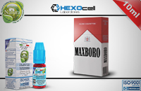 10ml MAXBORO 0mg eLiquid (Without Nicotine) - Natura eLiquid by HEXOcell image 1
