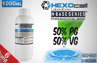 D.I.Y. - 1000ml HEXOcell eLiquid Base (50% PG, 50% VG, 6mg/ml Nicotine) image 1