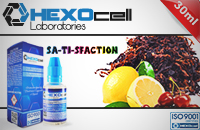 30ml SA-TI-SFACTION 3mg 80% VG eLiquid (With Nicotine, Very Low) - eLiquid by HEXOcell image 1