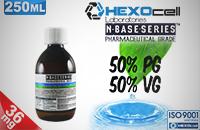 D.I.Y. - 250ml HEXOcell eLiquid Base (50% PG, 50% VG, 36mg/ml Nicotine) image 1