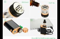 KIT - Eleaf iStick Pico 75W TC Full Kit ( Jet Black & Bronze ) image 6