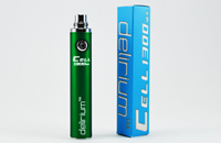 BATTERY - DELIRIUM CELL 1300mA eGo/eVod Top Quality ( Green ) image 1