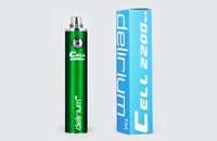 BATTERY - DELIRIUM CELL 2200mA eGo/eVod Top Quality ( Green ) image 1