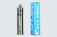 BATTERY - DELIRIUM CELL 2200mA eGo/eVod Top Quality ( Stainless ) image 1