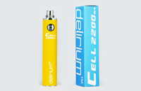 BATTERY - DELIRIUM CELL 2200mA eGo/eVod Top Quality ( Yellow ) image 1