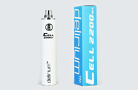 BATTERY - DELIRIUM CELL 2200mA eGo/eVod Top Quality ( White ) image 1