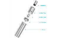 KIT - Joyetech eGo ONE 1100mAh Kit ( Stainless ) image 3