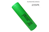 BATTERY - SAMSUNG INR 25R 18650 2600mAh Rechargeable Flat Top Battery image 1