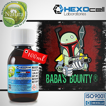 100ml BABA'S BOUNTY 18mg eLiquid (With Nicotine, Strong) - Natura eLiquid by HEXOcell
