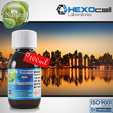 100ml MANHATTAN 9mg eLiquid (With Nicotine, Medium) - Natura eLiquid by HEXOcell