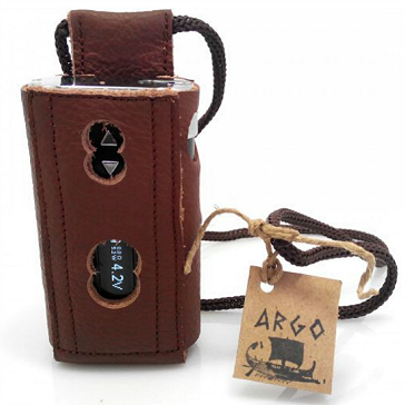 VAPING ACCESSORIES - Argo iStick 50W Leather Carry Case with Lanyard ( Brown )