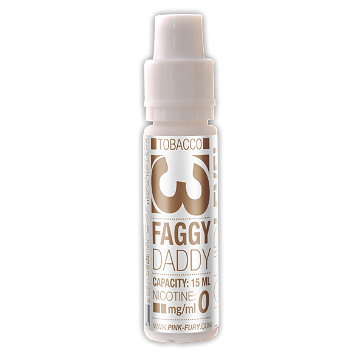 15ml FAGGY DADDY / WESTERN TOBACCO 12mg eLiquid (With Nicotine, Medium) - eLiquid by Pink Fury