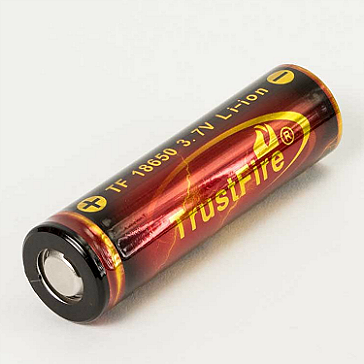 BATTERY - TRUSTFIRE 18650 3000mAh ( Flat Top )