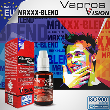 30ml MAXXX BLEND 18mg eLiquid (With Nicotine, Strong) - eLiquid by Vapros/Vision