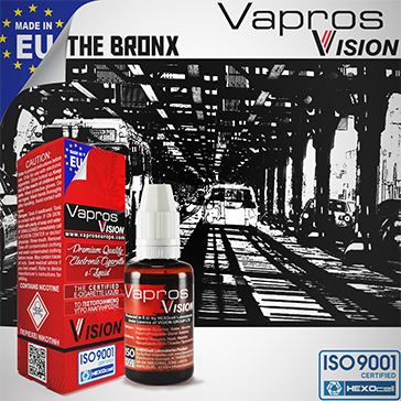 30ml THE BRONX 9mg eLiquid (With Nicotine, Medium) - eLiquid by Vapros/Vision